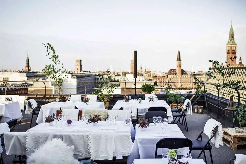 Urban roof picnic in Copenhagen