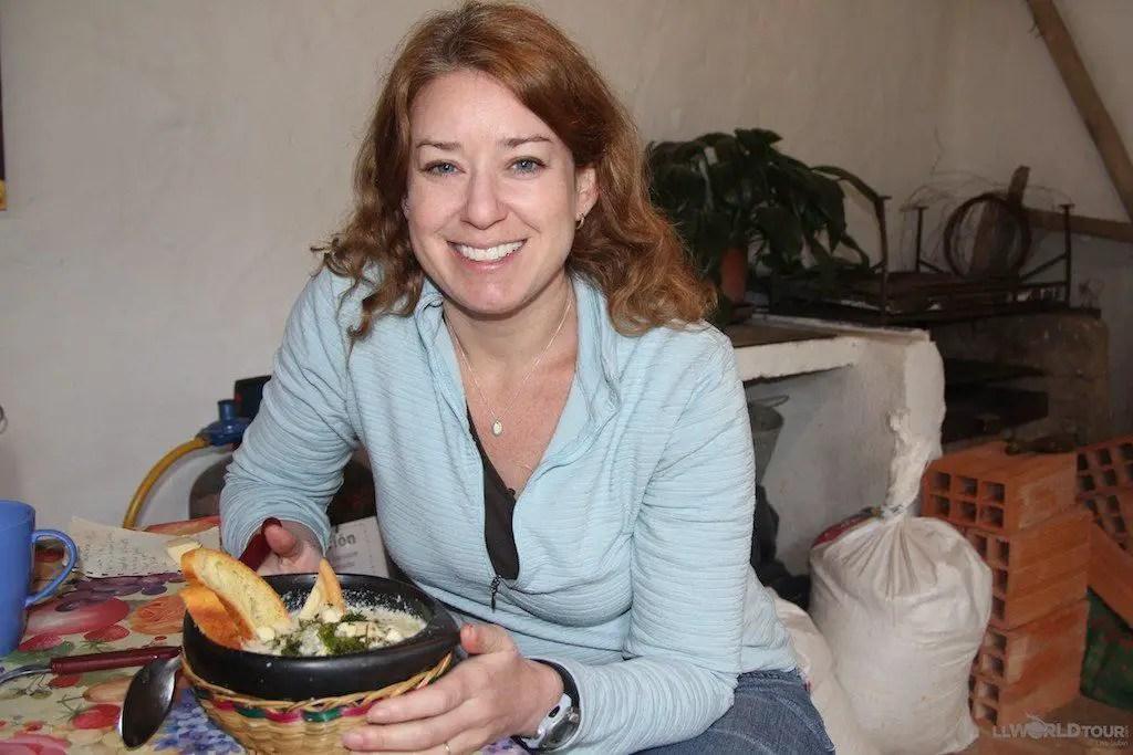 Lisa Lubin at Villa de Leyva   TheCulinaryTravelGuide.com