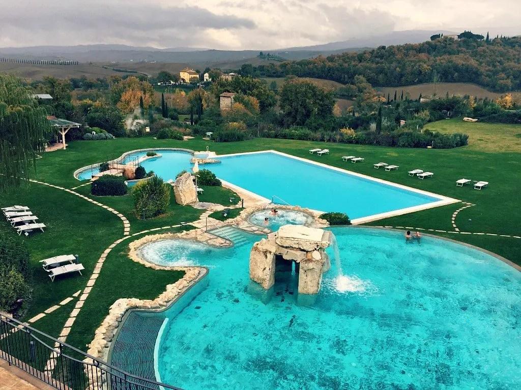 thermal pools at the Adler Thermae in Bagno Vignoni, Italy