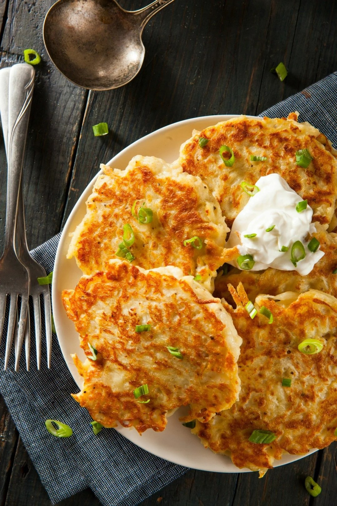 Traditional Irish Food - Homemade Boxty Irish Potato Pancakes for Breakfast
