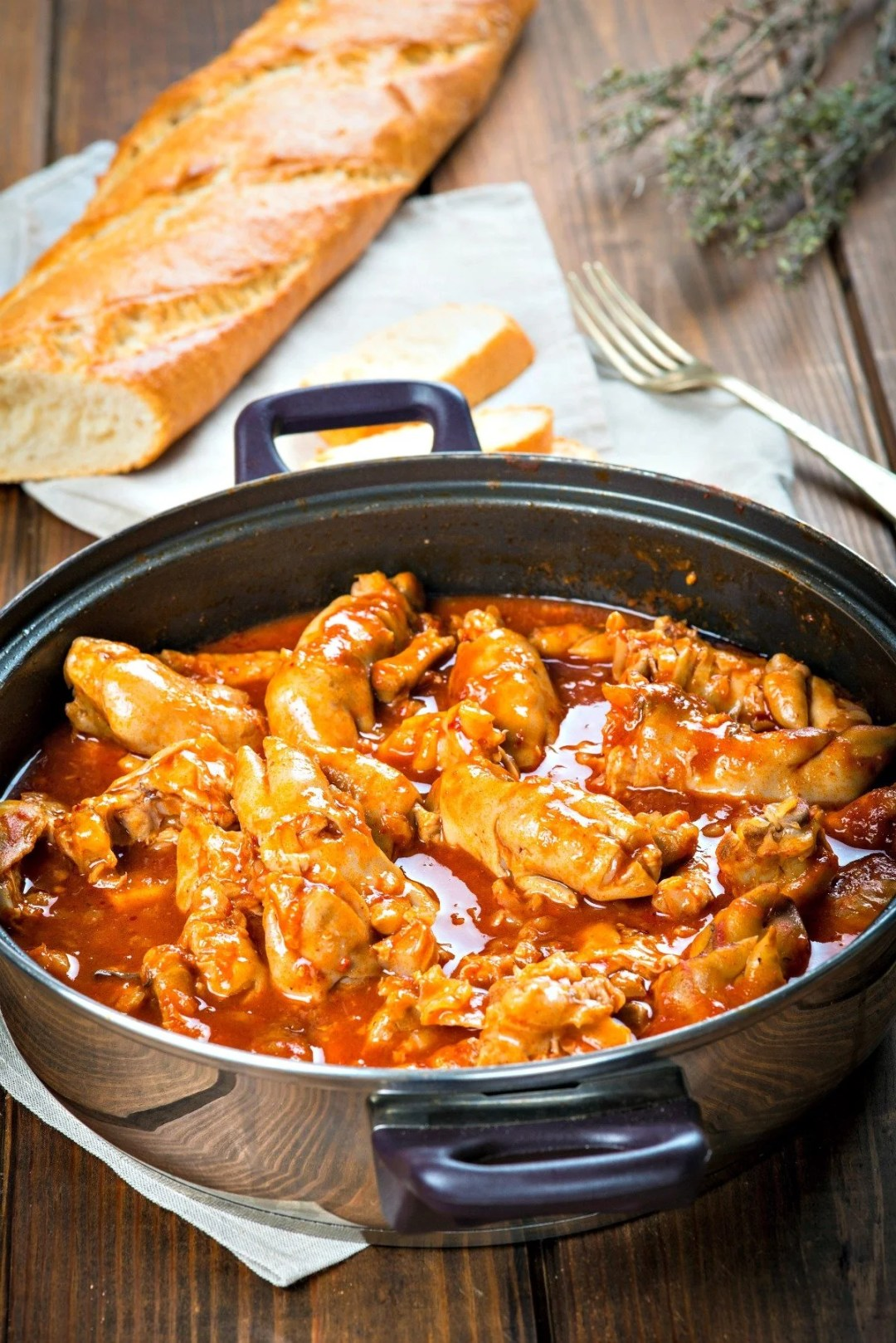 Traditional Irish Food - Crubeens with tomato sauce and bread