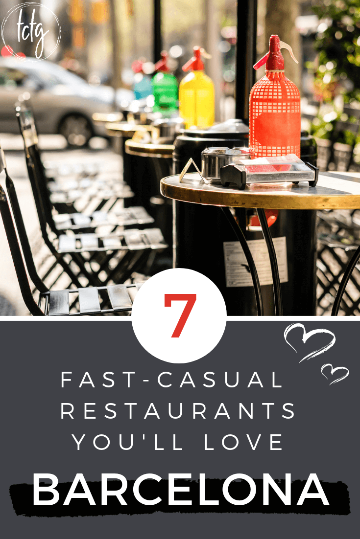 In a hurry and wondering where to eat in Barcelona? We've got you covered with these 7 terrific fast-casual restaurants even the locals love! #Barcelona #Spain #Travel #food