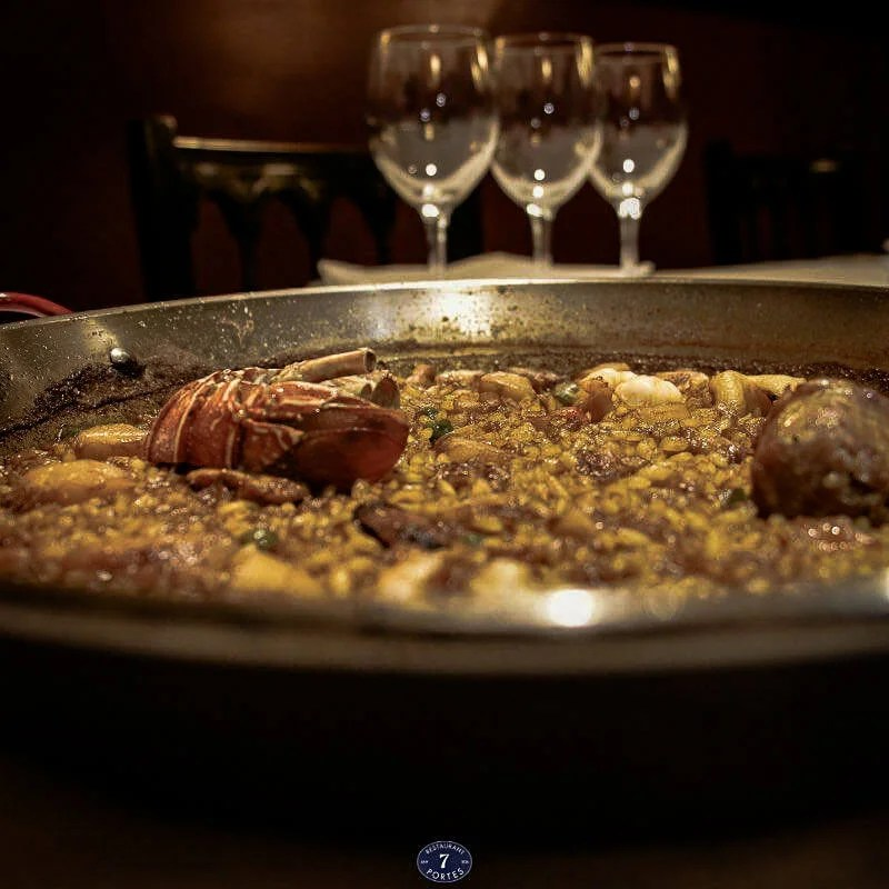 some of the best paella in Barcelona, served at 7portes paella parellada