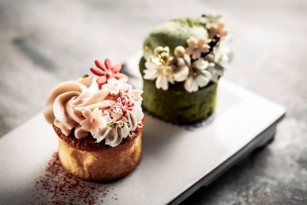 Sakura Ice Cream Cupcakes available at the Shangri-La Hotel during Tokyo Cherry Blossom Season
