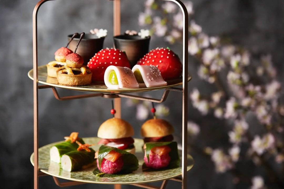 Sakura Afternoon Tea Service available at the Shangri-La Hotel during Tokyo Cherry Blossom Season