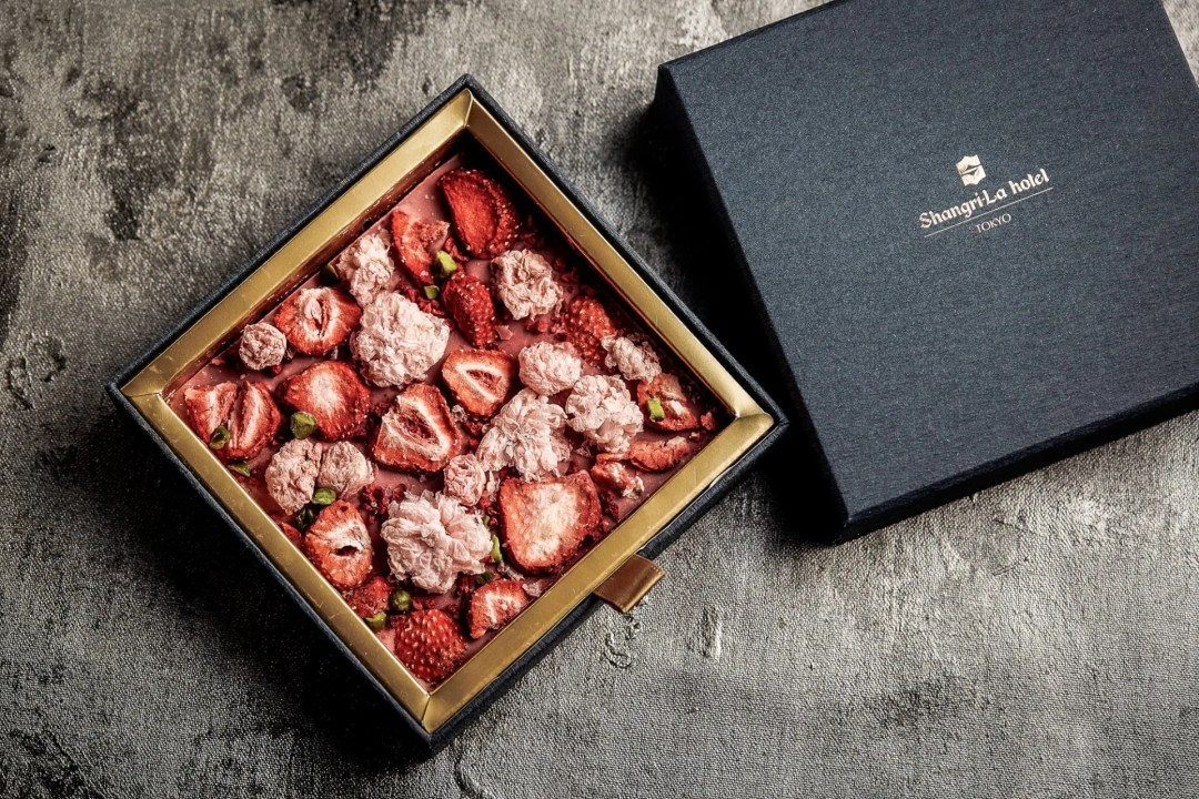 Sakura Chocolate available at the Shangri-La Hotel during Tokyo Cherry Blossom Season