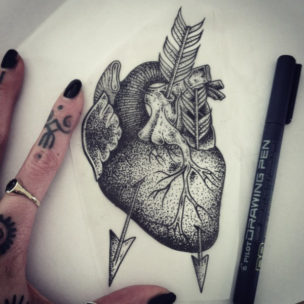 Hannah Snowdon Heart Tattoos