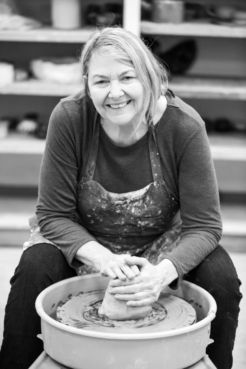 Diana Pavlac Glyer at the potter's wheel 2 - Image (c) Matt Tyler