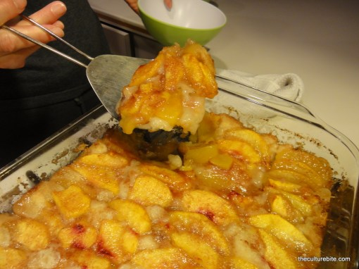 Peach Cobbler Cooked