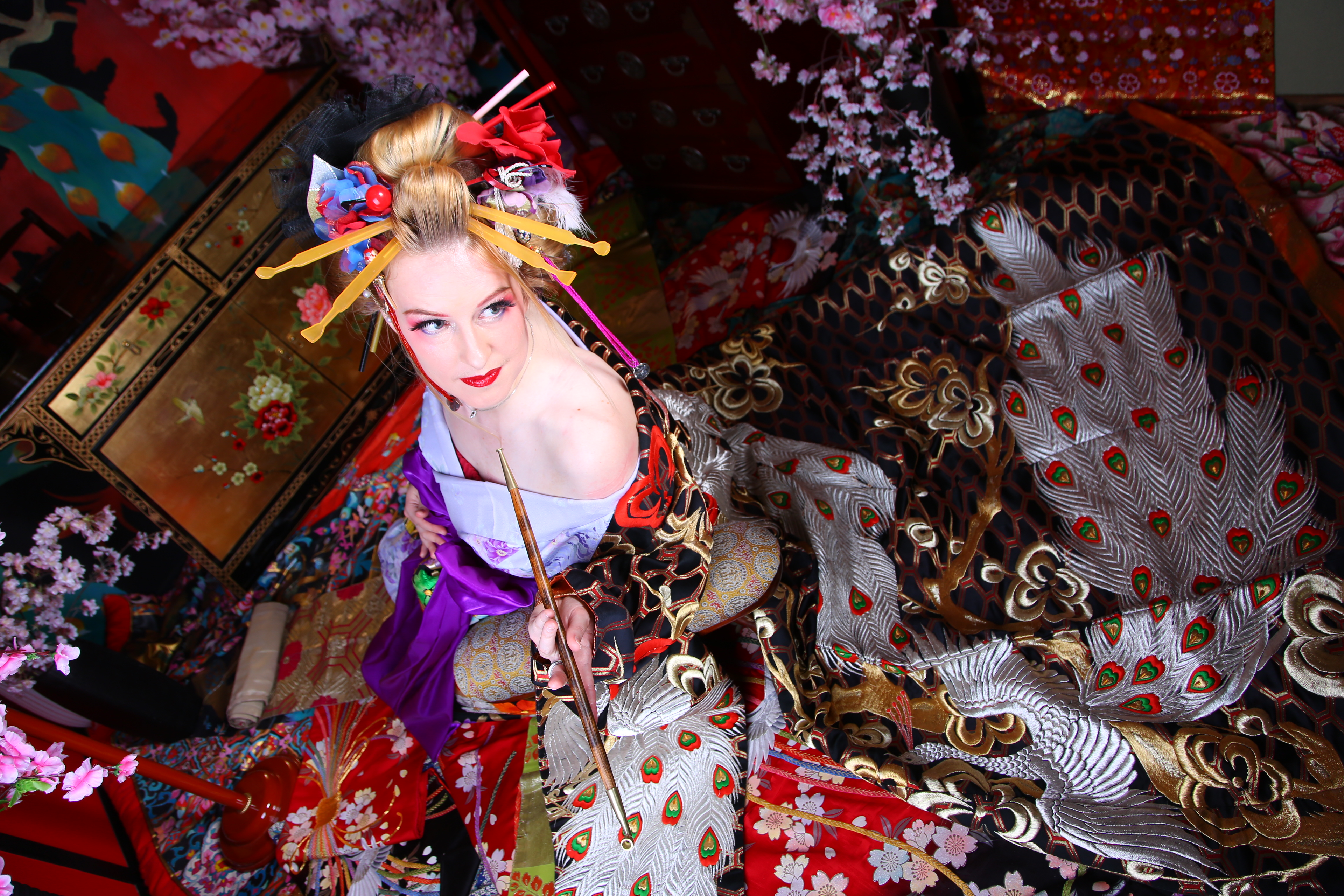 Autobiographical Project  The Blonde Oiran Kyoto