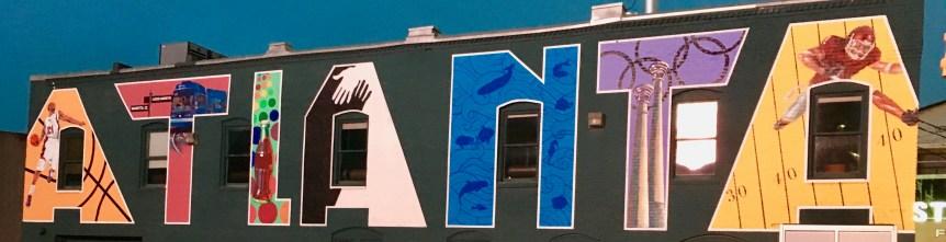 Atlanta mural ATL downtown