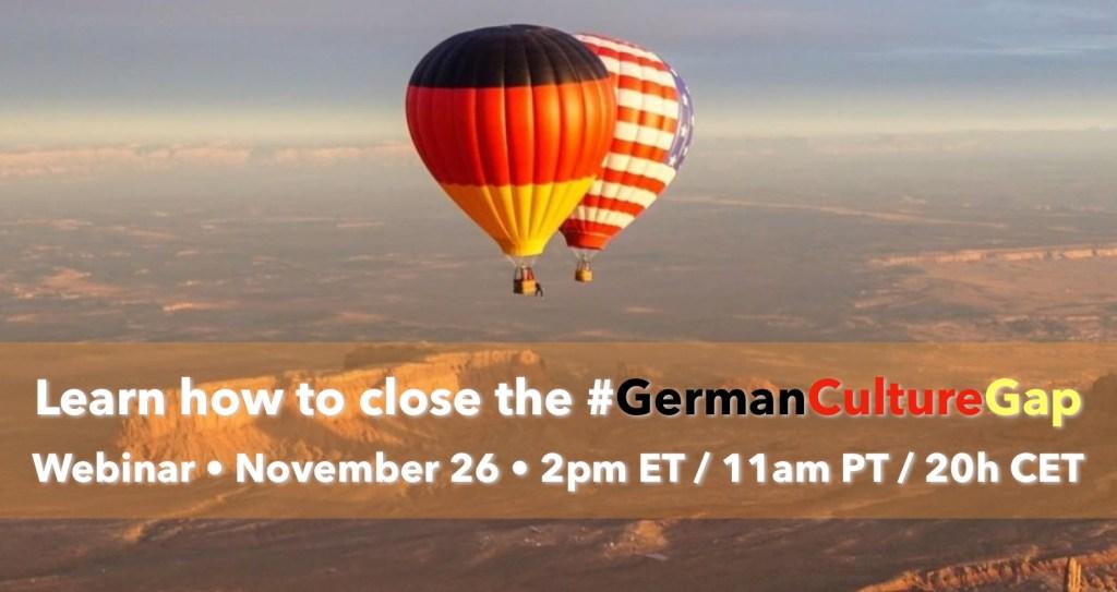 close the #GermanCultureGap november