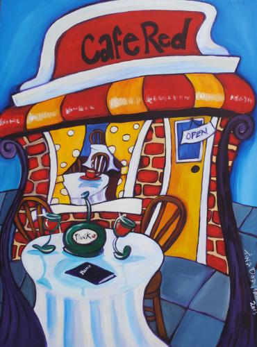Cafe Red, by Tina Drayton