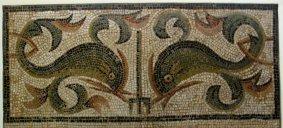 Roman dolphin mosaic
