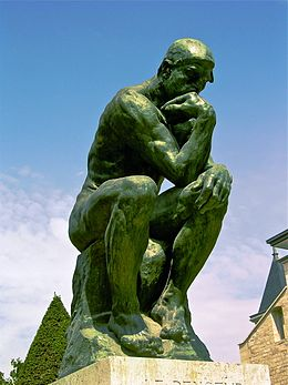 Rodin, The Thinker, originally conceived in 1880