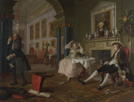Hogarth, scene from A Fashionable Marriage, 1743-45
