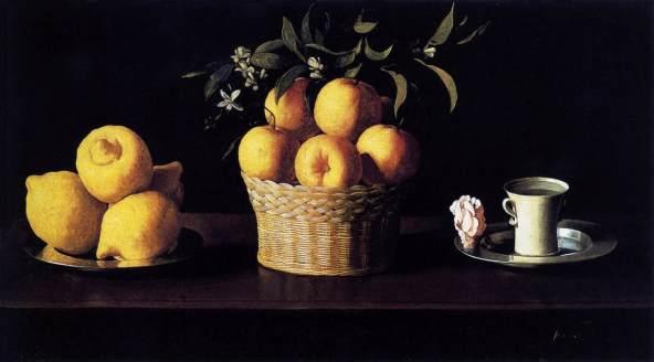 Zurbaran, Still Life with Oranges, 1633