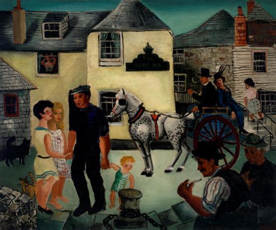 The Sloop Inn, St. Ives by Christopher Wood, 1926