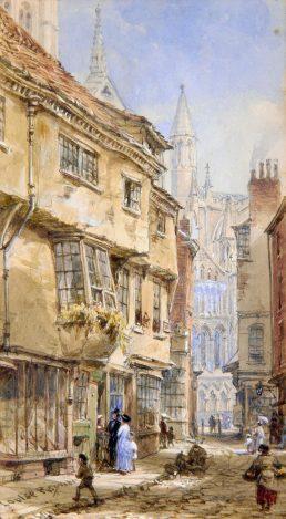 Stonegate, York by Louise Ingram Rayner (1832-1924)