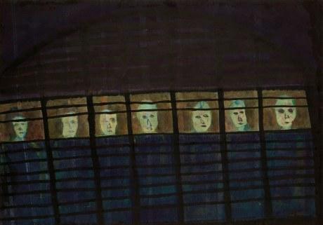 1986 水墨 設色 紙本 Ink and Colour on Paper 45 x 65 cm