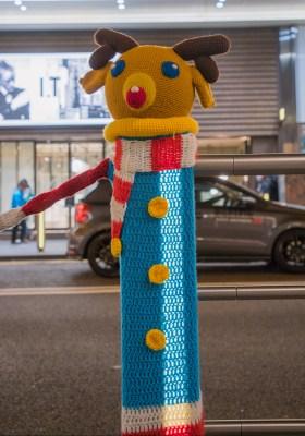 銅鑼灣京士頓街聖誕欄杆