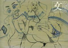 Sigmar Polke的《無題》作品,可以看到情慾張狂,估價7至10萬英鎊。