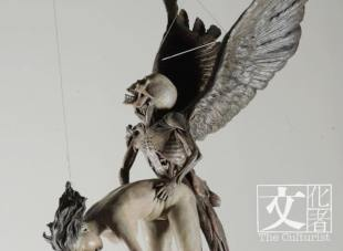 雕塑作品《黑天使》