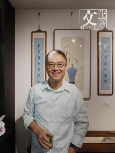 作家李純恩也有現身展覽開幕酒會。