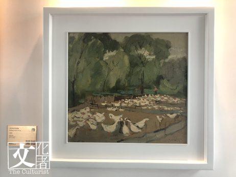 龐均是當世的中國油畫大師,善畫各種類型的題材,畫《北京四季青鴨場 》也風格強烈。