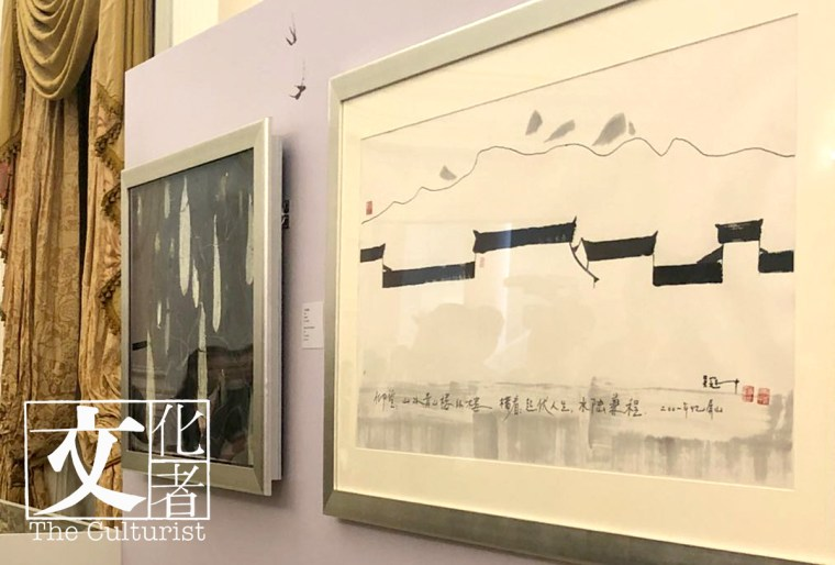 _《雙燕》是吳冠中最重要的作品之一,連原稿捐贈香港藝術館。