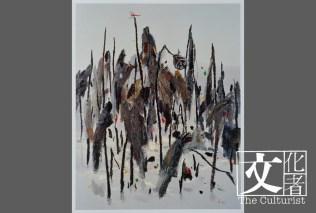 作品《冰雪殘荷》,捐贈於2014