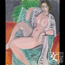 亨利‧馬諦斯(1869–1954), 披巾裸女, 1936 Tate: Purchased 1959 © Tate, London 2018