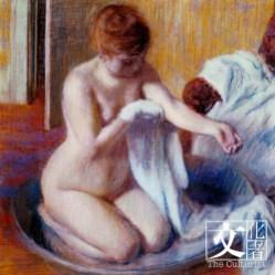 愛德加‧竇加(1834–1917), 浴盆中的女子, 約1883 Tate: Bequeathed by Mrs A.F. Kessler 1983 © Tate, London 2018