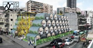 由James Law Cybertecture團隊設計的「OPod 水管屋 」是一個以緩解香港的住房問題的實驗作品。O-Pod可以在很短的時間內堆疊成為社區的低層建築、短時間內搬遷到其他地方偱環再用。(圖片由James Law Cybertecture提供)