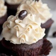 Magdalenas de chocolate moca oscuro