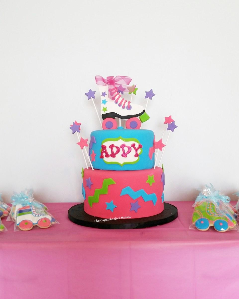 skate party, roller skates, skate cake,