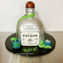 Patron bottle cake, 3D cake