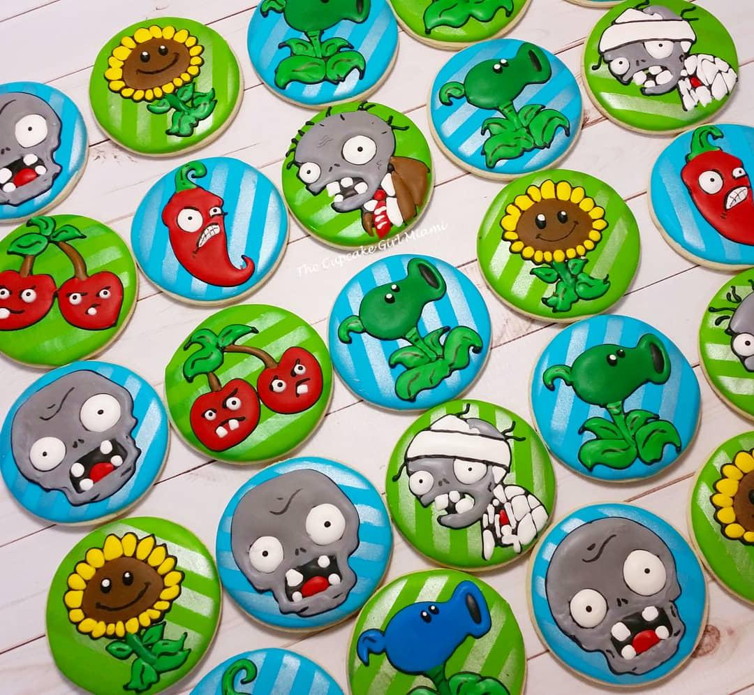 Plants vs Zombie cookies