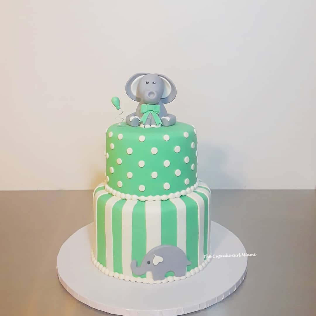 Baby shower cake, elephant cake