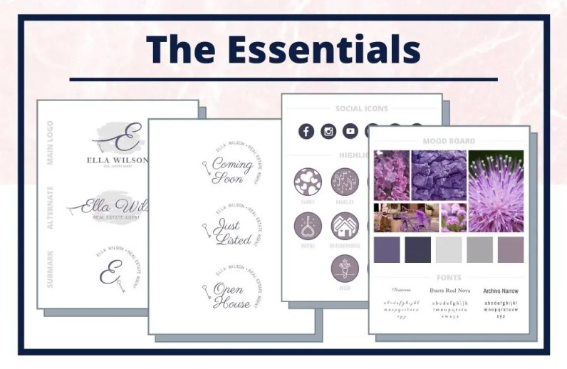 The Ella Collection - The Essentials - Real Estate Branding Bundle for Women