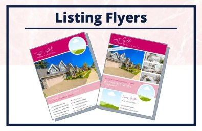 The Holly Collection - Flyers - Real Estate Branding Bundle for Women