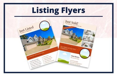 The Gina Collection - Flyers - Real Estate Branding Bundle for Women