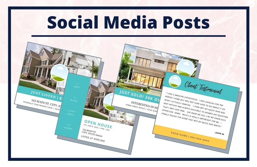 The Jenny Collection - Social Media Posts - Real Estate Branding Bundle for Women
