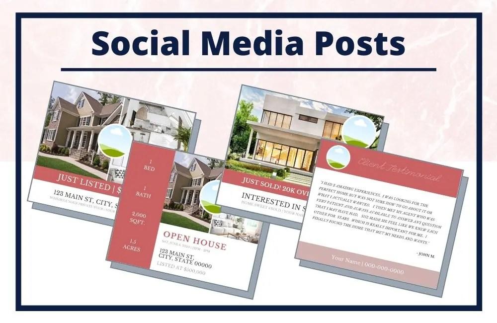 The Lauren Collection - Social Media Posts - Real Estate Branding Bundle for Women