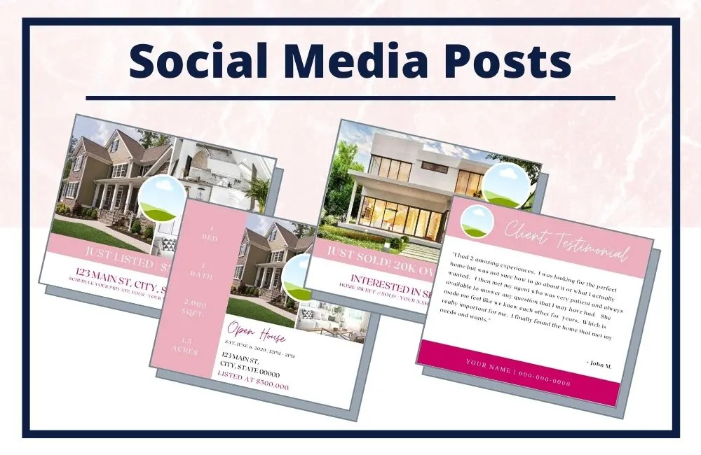 The Holly Collection - Social Media Posts - Real Estate Branding Bundle for Women