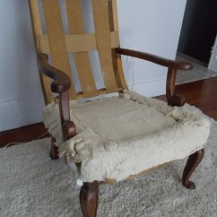 Antique Platform Rocking Chair With Springs Metal Armchair Upholstering An Part 1 Deconstruction