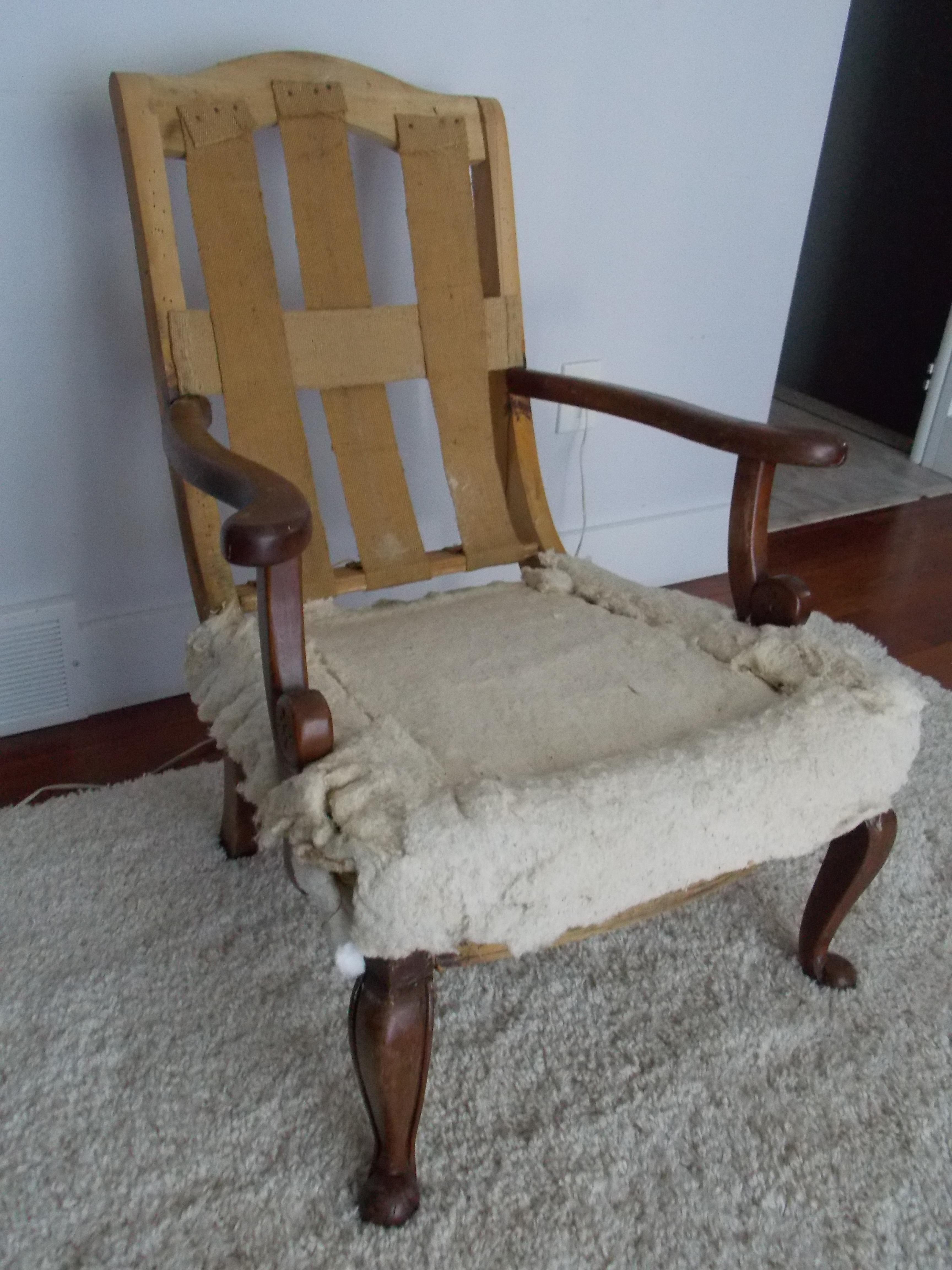upholstering a chair modecraft new york barber an antique part 1 deconstruction