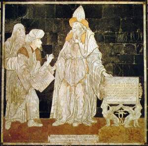 Image of Hermes Trismegistus at the Cathedral of Siena in Italy