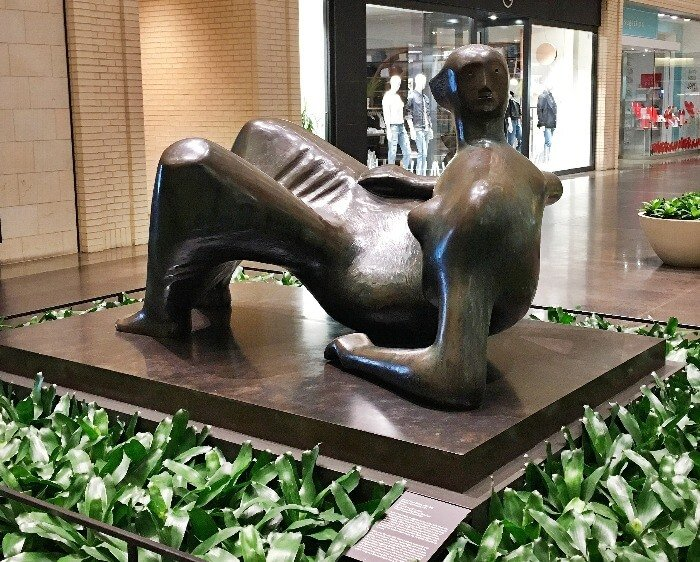 NorthPark Center Henry Moore Bronze Sculpture