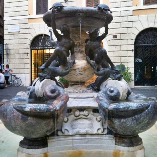Travel Plans Rome Italy Turtle Fountain
